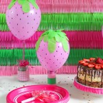 DIY Globos con diseño de Fresas