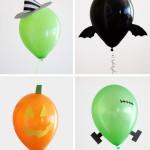 Decoración de globos para Halloween