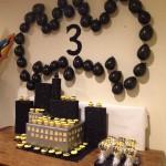 Cumpleaños de Batman decorado con globos