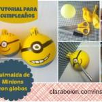 DIY Guirnalda de Minions con globos