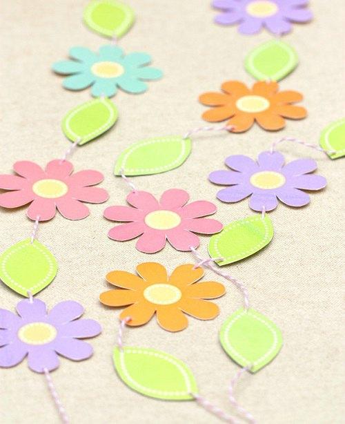 Guirnalda de flores imprimible