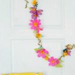 Guirnalda de flores paso a paso