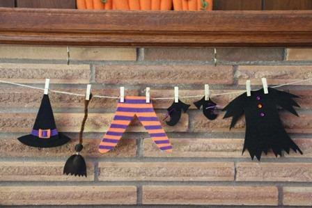 Guirnalda para Halloween manualidades