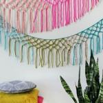 Guirnaldas decorativas de macramé
