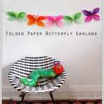 Guirnalda de mariposas de papel