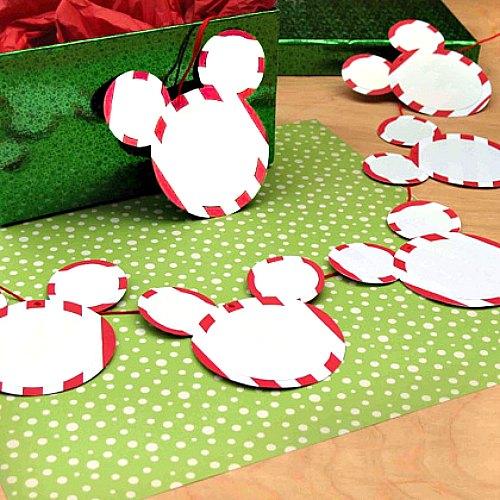 Guirnalda de Mickey plantilla