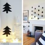 Guirnalda de árboles de Navidad de papel