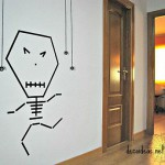 Decoracion Halloween realizada con washi tape