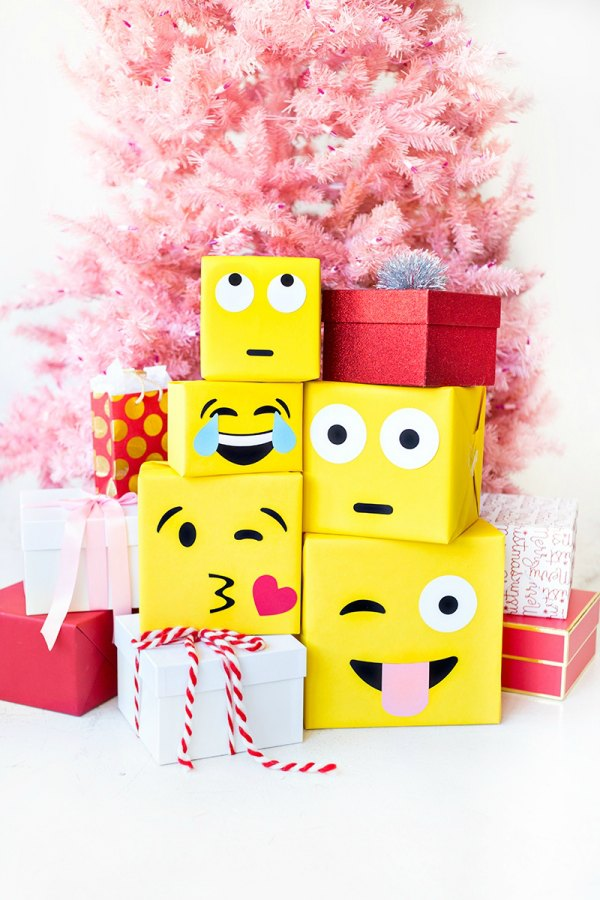 Ideas para envolver regalos: emoticonos