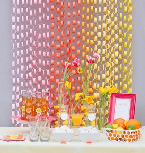 Decorar fiestas con cadenas de papel DECORACIN FIESTAS