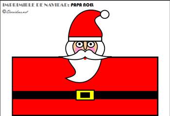 Papa Noel y Renos para imprimir