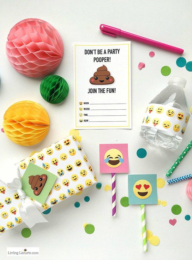 Fiesta Emoticonos imprimibles gratis