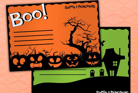 Invitaciones Halloween para imprimir