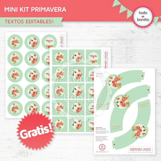 Kit imprimible Fiesta de Primavera