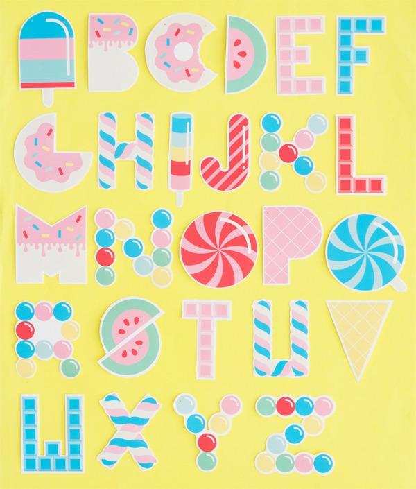 Letras para imprimir dise o candy decoraci n fiestas - Letras infantiles para puertas ...
