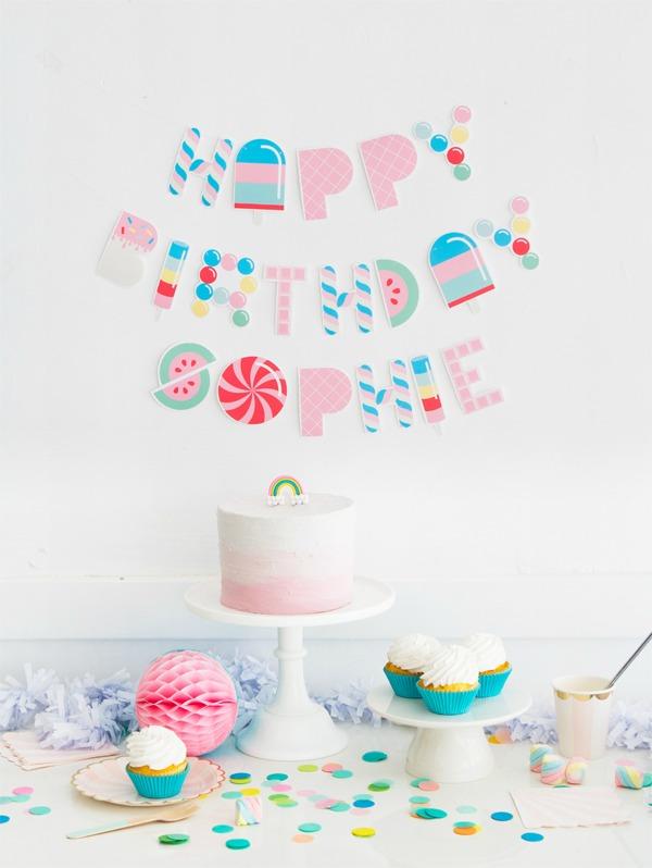 Letras para imprimir diseño Candy
