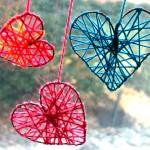 Manualidades corazones de lana
