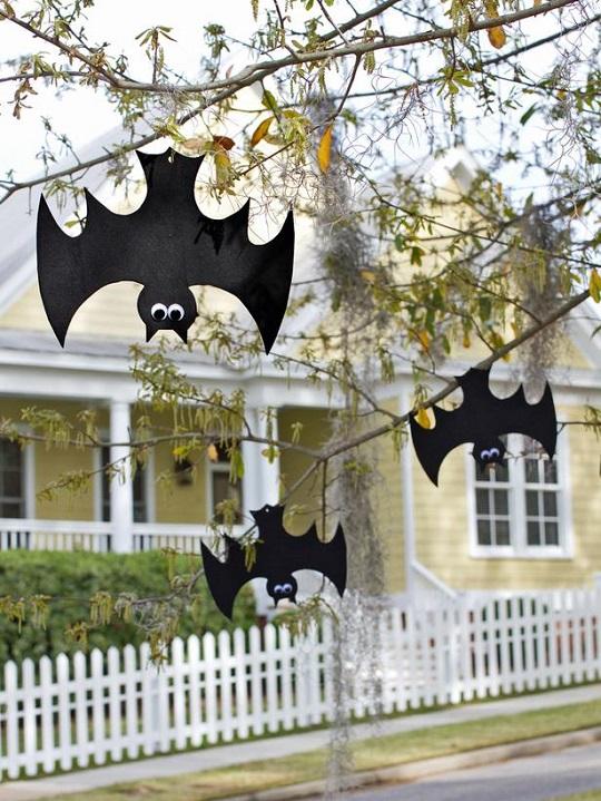 Decoración Halloween: murciélagos de goma eva