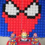 Decoración globos Spiderman