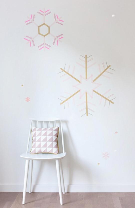Copos de nieve de washi tape