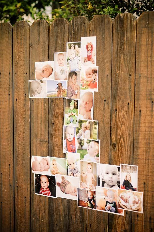 Numeros decorativos realizados con fotos