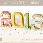 Números de papel para Fin de Año