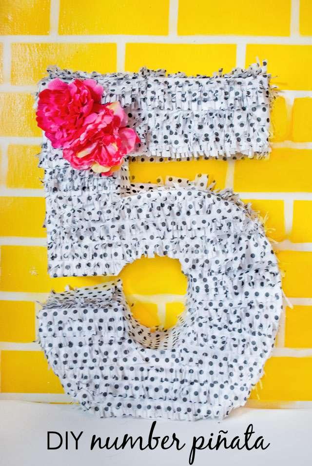 Números para decorar cumpleaños
