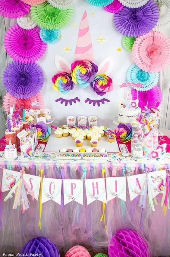 Una pared Unicornio para tu fiesta
