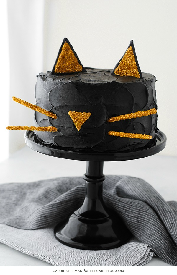 Tarta Gato negro, ideal para Halloween