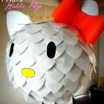 Como hacer una piñata de Hello Kitty
