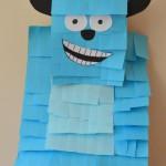 Como hacer una piñata de Monsters Inc