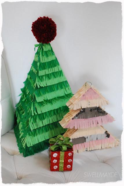 Piñatas con forma de Arbol de Navidad