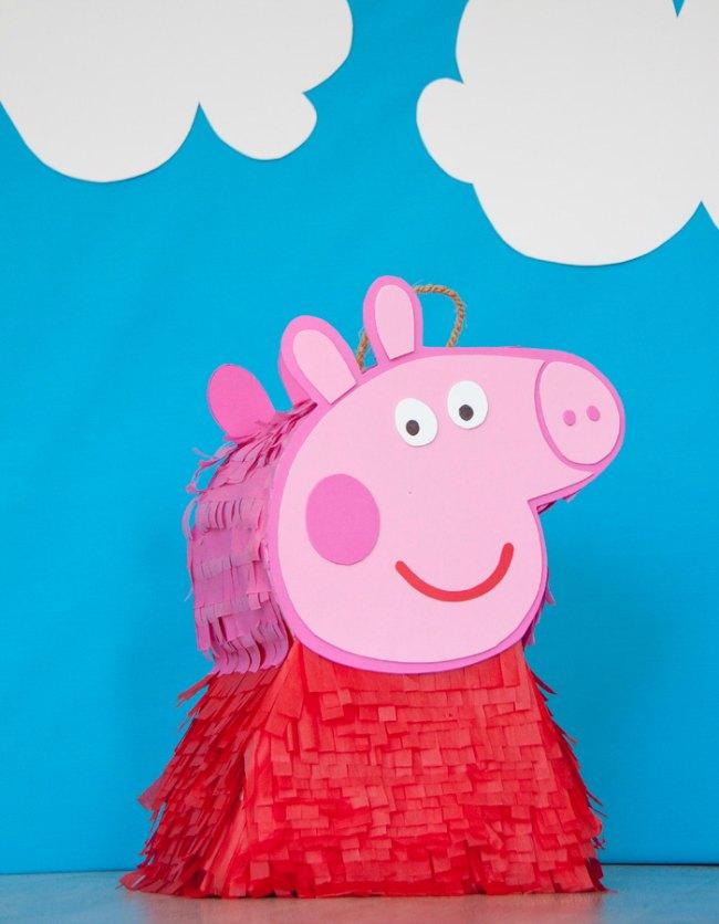 Piñata de Pepa Pig paso a paso