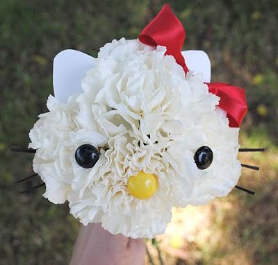 Como hacer un ramo de flores de Hello Kitty