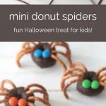Mini donuts con diseño de araña