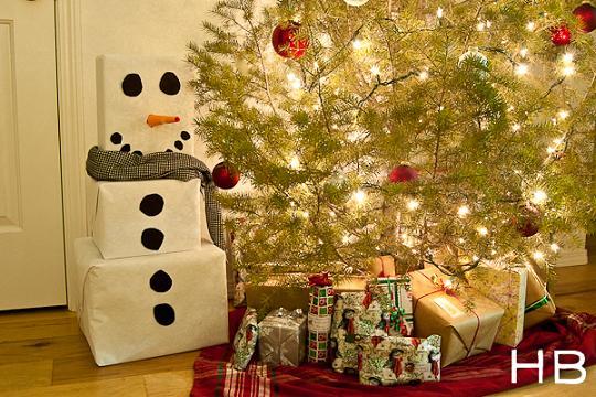 Idea para envolver los regalos de Navidad