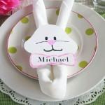 Servilletero conejo de Pascua