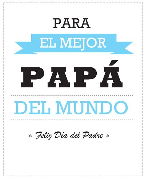 Tarjetas Día del Padre para imprimir