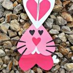 Tarjeta San Valentín conejito corazón