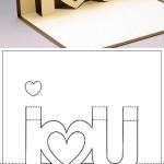 Tarjeta I Love You en 3D