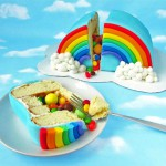 Tarta arcoiris con sorpesa