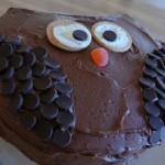 Cómo hacer una tarta sencilla con forma de Búho