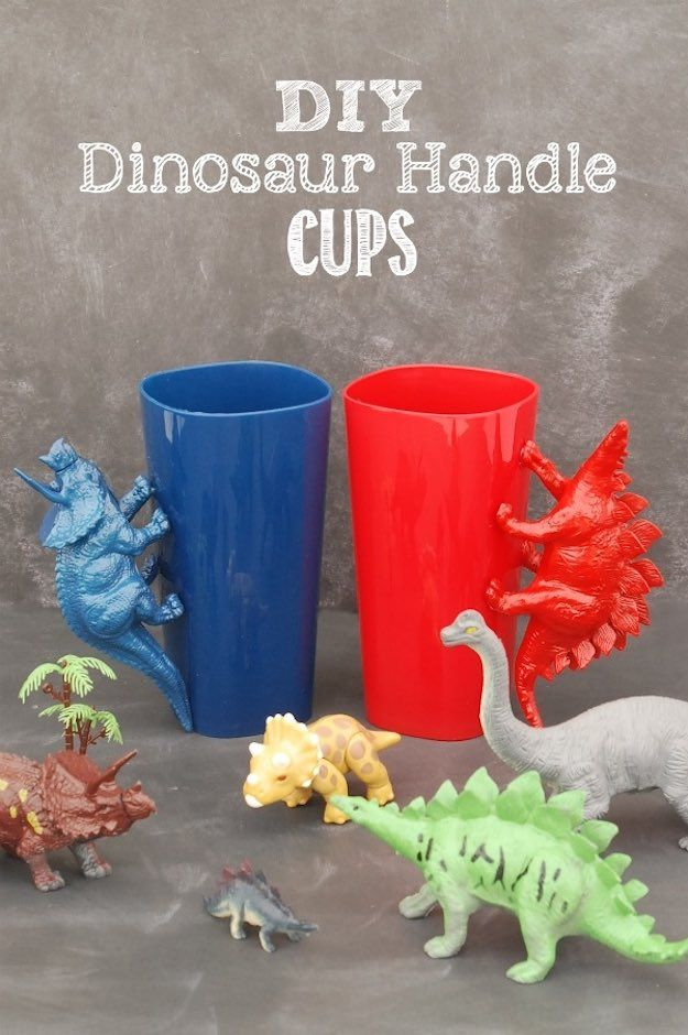 DIY Vasos de Dinosaurios